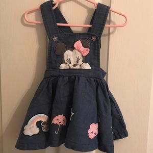 Minnie Mouse denim jumper dress